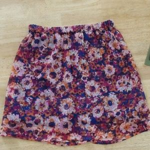 Mossimo  floral skirt